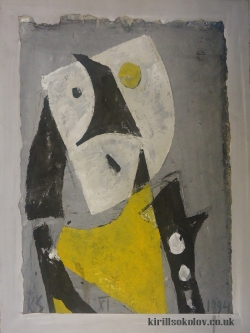 Abstract portrait of Pierrot